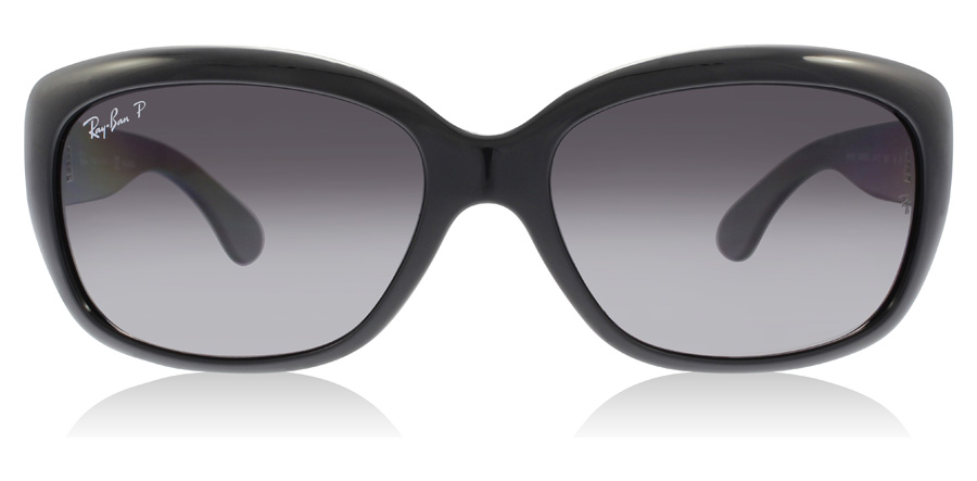 Ray-Ban Jackie Ohh RB4101 Noir brillant 601/T3 58mm Polarisé