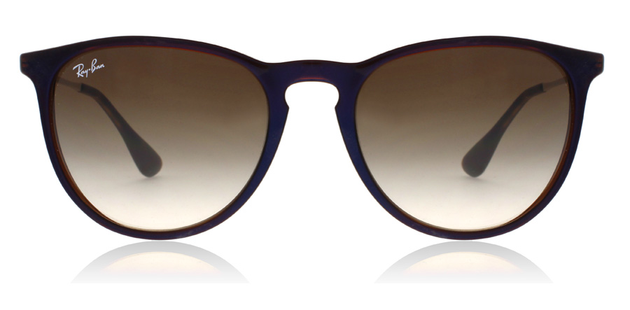 Ray-Ban Erika RB4171 Marron Transparent / Bleu 631513 54mm