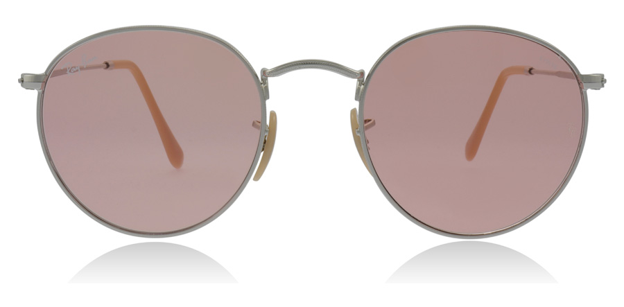 Ray-Ban RB3447 Round Metal Argenté 9065V7 50mm