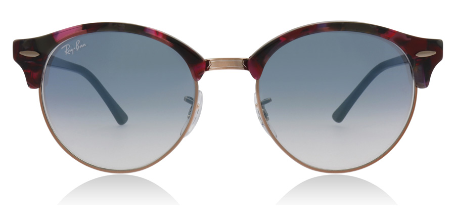 Ray-Ban RB4246 Clubround Gris tacheté / Violet 12573F 51mm