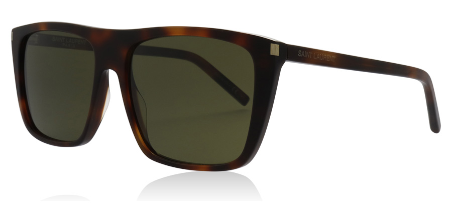 Saint Laurent SL156 Shiny Medium Havana 002 56mm