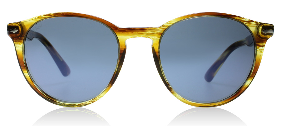 Persol PO3152S Marron rayé - Jaune 904356 52mm