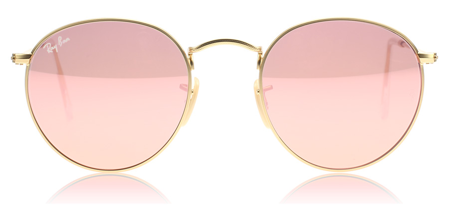 2aaf9096e ... pink lenses 50mm; ray ban round metal 3447 arista crystal green
