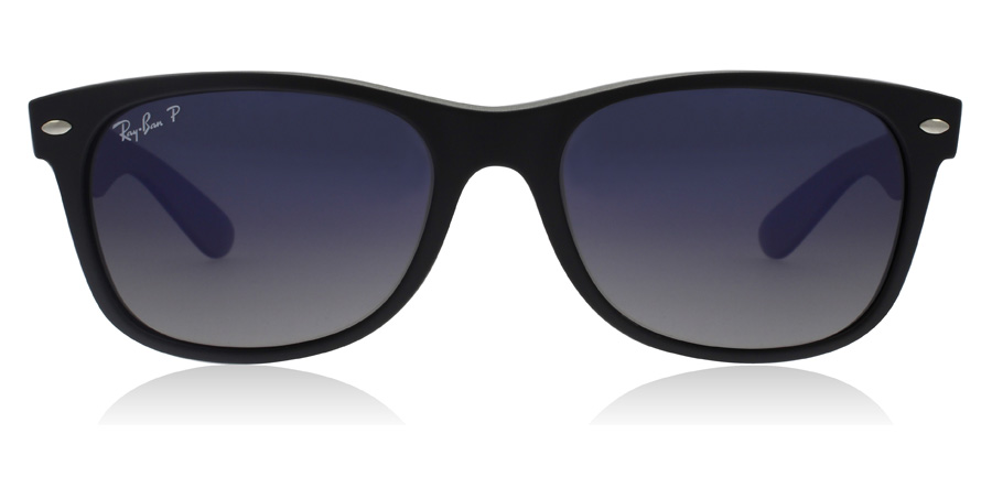 Ray-Ban RB2132 New Wayfarer Noir 601S78 55mm Polarisé