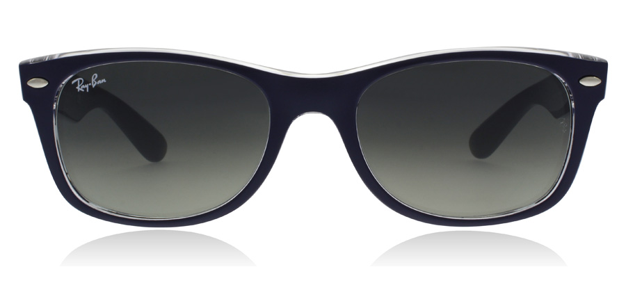 Ray-Ban RB2132 New Wayfarer Bleu / Transparent 605371 52mm