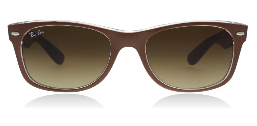 Ray-Ban RB2132 New Wayfarer Marron / Transparent 614585 52mm
