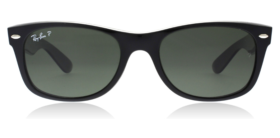 Ray-Ban RB2132 New Wayfarer Noir 901/58 52mm Polarisé