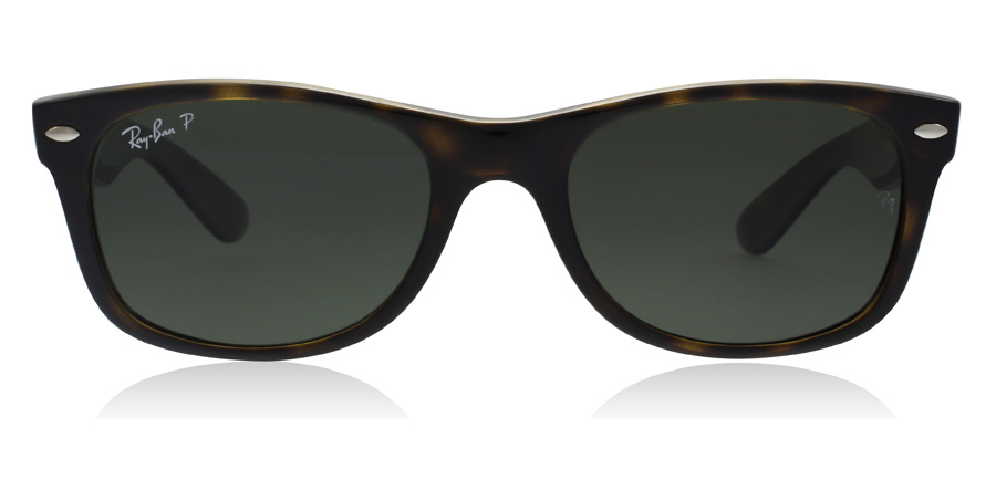 Ray-Ban RB2132 New Wayfarer Ecaille de tortue 902/58 58mm Polarisé