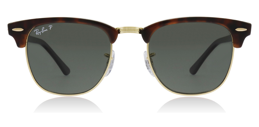 Ray-Ban Clubmaster RB3016 Havane rouge 990/58 49mm Polarisé