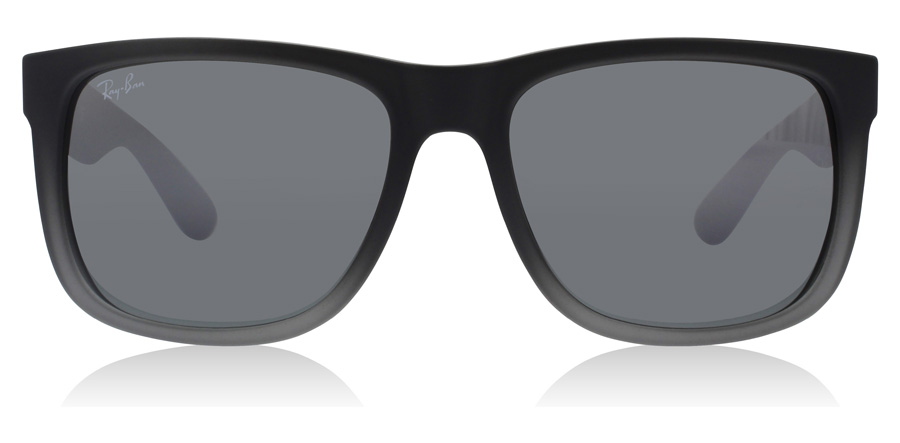 Ray-Ban Justin RB4165 Caoutchouc Gris à Transparent 852/88 51mm