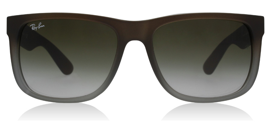 Ray-Ban Justin RB4165 Caoutchouc marron / Gris 854/7Z 54mm