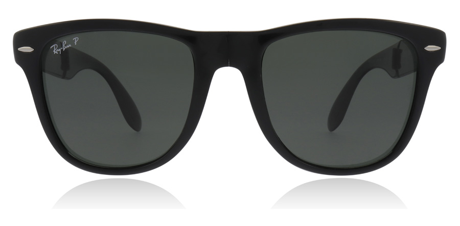 Ray-Ban RB4105 Folding Noir Brillant 601/58 54mm Polarisé