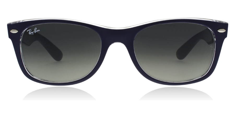 Ray-Ban New Wayfarer RB2132 Bleu Mat 605371 55mm