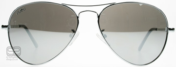 Nueu 601 Mirrored Aviator Argenté SIL